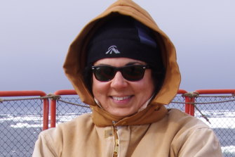 Melanie Van Twest, an archaeologist turned ship's doctor, on board the Aurora Australis on one of its exhibitions.