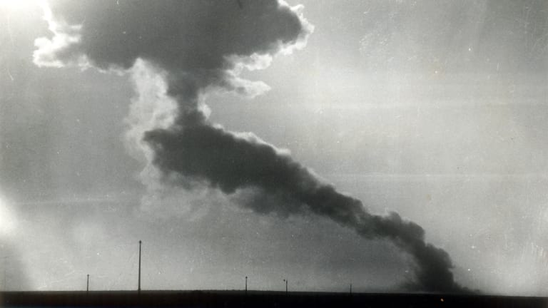 The first atomic bomb exploded on the Australian mainland was detonated at Woomera, South Australia in 1953.