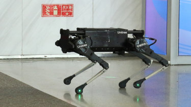Laikago, a bionic dog robot developed by Hangzhou based Unitree reminds people of Boston Dynamics models.