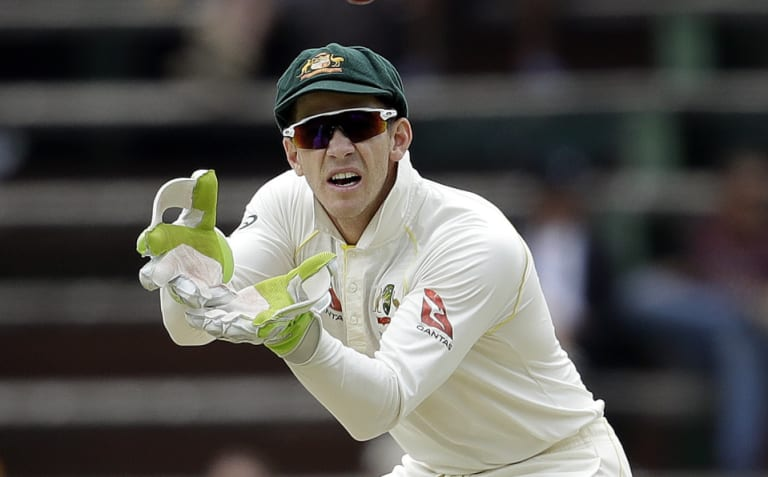 Questionable tactics: Australian captain Tim Paine.