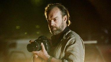 Hugo Weaving as a war photographer in the new Australian film Hearts and Bones.