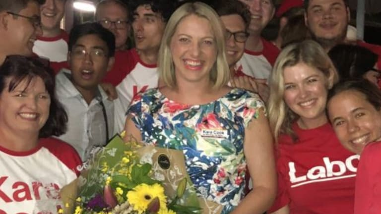 Kara Cook won the byelection for Labor.