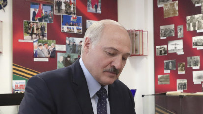 Belarus opposition leader flees abroad with sons ahead of election