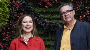 Dinosaur Designs founders Louise Olsen and Stephen Ormandy.