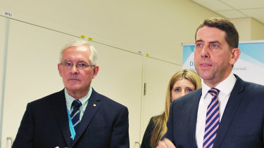 Dr Richard Ashby, pictured with former Health Minister Cameron Dick.