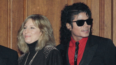 Michael Jackson with Barbara Streisand in 1986.