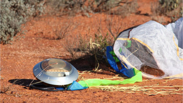The capsule from the first Hayabusa probe which landed at Woomera in 2010.