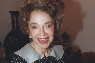 Lady Mary Fairfax, pictured in 1996.