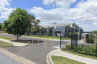 St Thomas More College at Sunnybank, where a student tested positive for COVID-19.