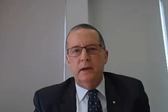 Chris Eccles, secretary to the  Department of Premier and Cabinet, gave evidence to the inquiry into hotel quarantine.