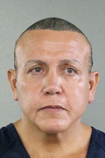 Cesar Sayoc shown in a booking photo in Miami.