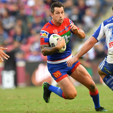 Mitchell Pearce was scooped up by the Knights after being edged out at the Roosters.