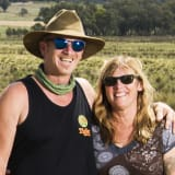 Jay Dryden and Jane Penders live and work in Canberra but spend weekends on a property  they own in Gunning. They always fill up in Gunning because petrol is much cheaper than in Canberra.