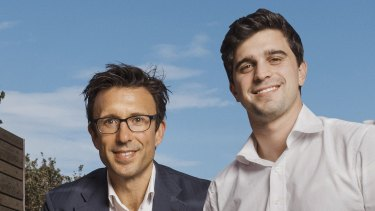 Afterpay founders Anthony Eisen and Nicholas Molnar.