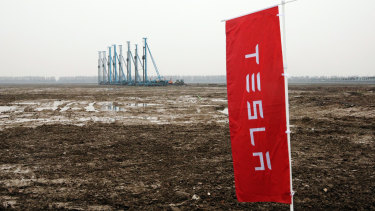 It was a soggy start to Tesla's China dream.