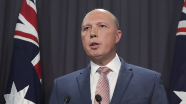"""Peter Dutton said """"two doctors from Nimbin"""" could recommend a detainee for transfer."""