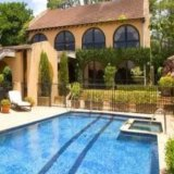 The Spanish mission-style mansion where Zac Efron has been sitting out his second quarantine stint.