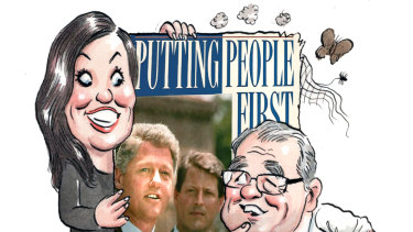 Labor's new slogan was first used by Bill Clinton in 1992.