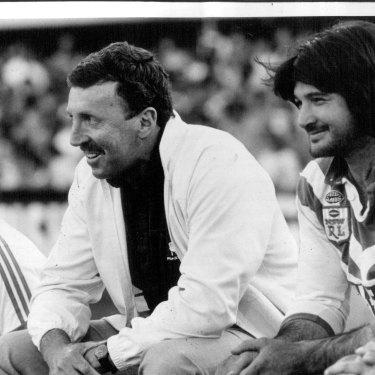 Warren Ryan while coach of Canterbury in 1986.