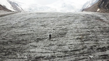 The Tuyuksu glacier in Kazakhstan is rapidly melting.