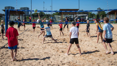 The junior beach volleyball tournament in Canberra last year.