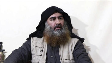 Deceased Islamic State group leader Abu Bakr al-Baghdadi.