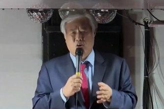 South Korean Reverend Jun Kwang-hoon, the leader of the Sarang Jeil Church.