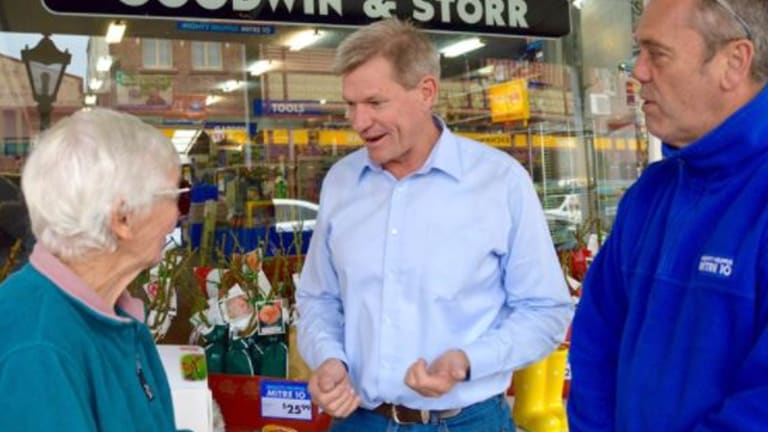 The LNP's Lockyer candidate, veteran Lockyer Valley councillor and Laidley police officer Jim McDonald.