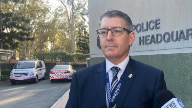 Detective Inspector Mark White addresses the media after two toddlers were found dead in a car.