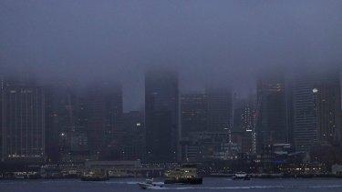 Sydney has woken to a foggy morning.