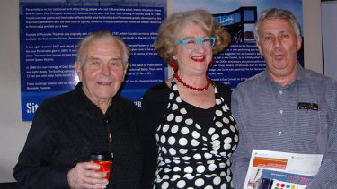 Annie Byron and Robert Love with Oliver Fiala (left), both former students of Oliver's, Riverside Theatres, 2013.