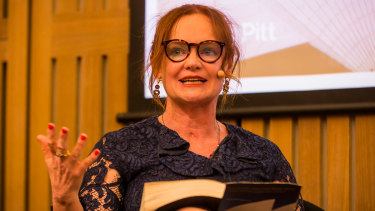 Helen Pitt at The House book launch in the Utzon Room of the Sydney Opera House on Monday.