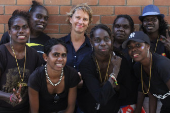 Jodie Kell, centre, with members of Ripple Effect.