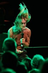 Iggy Pop on stage at the Sydney Opera House in April.