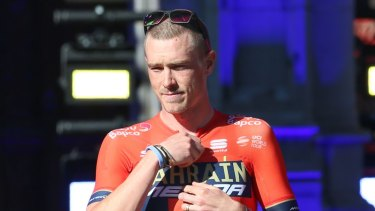 Rohan Dennis seen at the start of this year's Tour.
