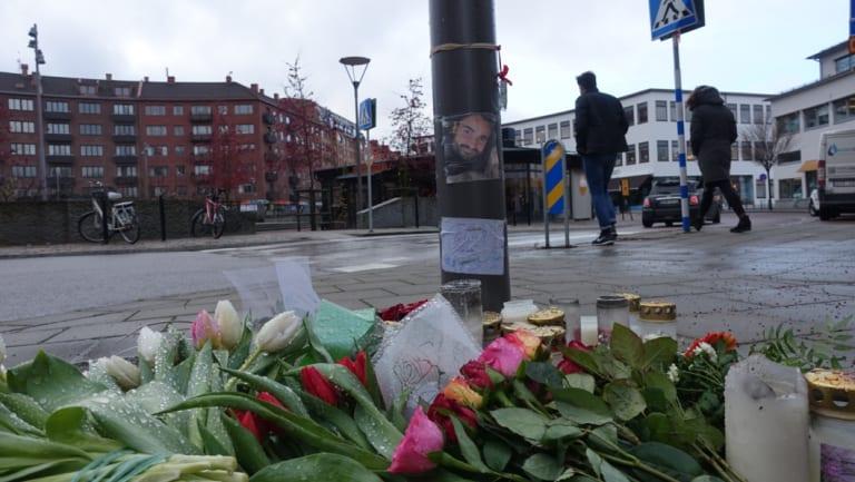 Tributes in Gothenburg for Kai Foley.