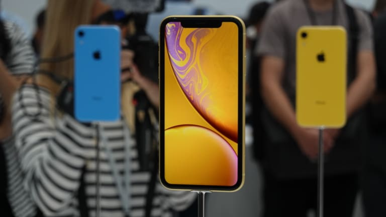 The iPhone XR comes in a range of colours.