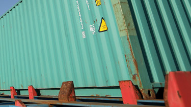 The girl alleges she was made to sleep in a shipping container for more than four months.