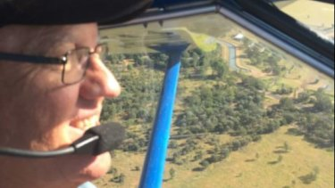 Mr White died when his ultralight plane crashed into an Emerald paddock on Sunday morning.