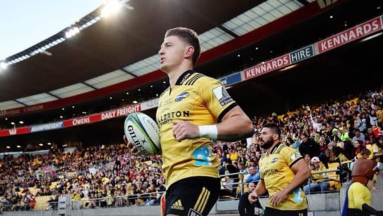 Poised: Beauden Barrett starred for the Hurricanes at the Cake Tin.
