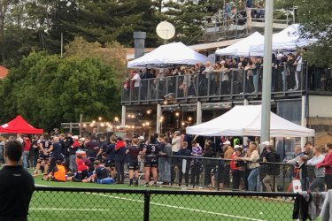 President of the club John Murray said the event was fully ticketed and entirely within COVID-19 restrictions.