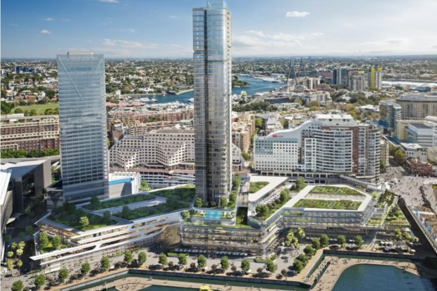 An indicative design of the redeveloped Harbourside shopping centre included in the most recent concept proposal for the Darling Harbour site.