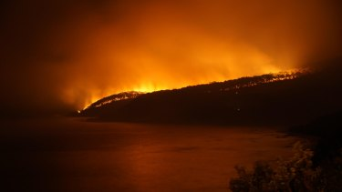 The Wye River fire, late on Christmas Day.