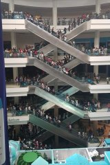 The Atrium shopping mall in Jakarta, which has been left without power during the blackout.