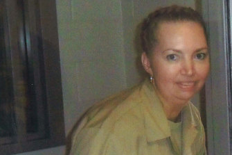 Lisa Montgomery in jail, in a photo provided by her lawyers.