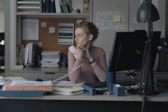 Julia Garner in The Assistant.