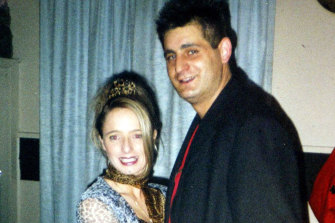 Robyn Lindholm with her then-boyfriend George Templeton.