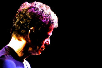 The late Lou Reed at the State Theatre in Sydney in 2003.