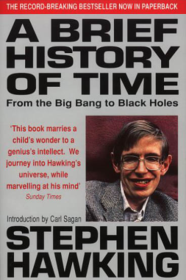 Book cover : A brief history of time (1988)