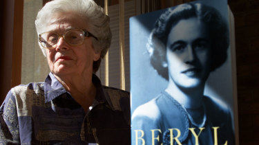 Dame Beryl Beaurepaire at her home in Mt Eliza.